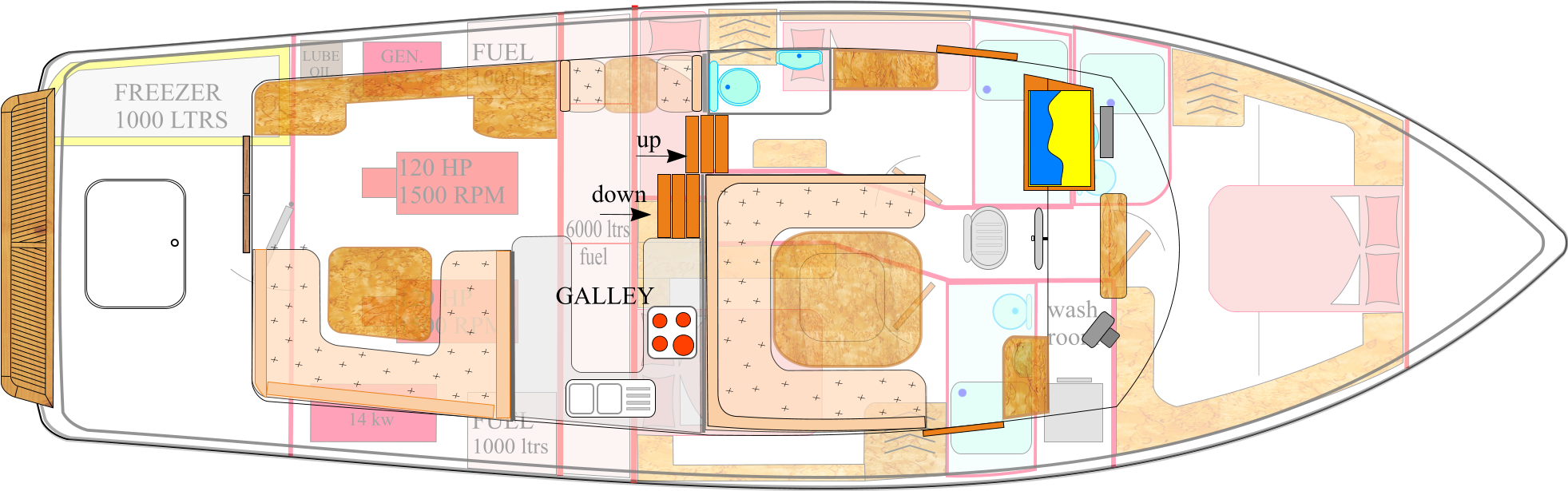 Upper deck layout 1